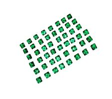 Wonderful 50 Pieces 6.85 Ct Square Zambia Emeralds Gemstone