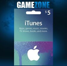 iTunes Gift Card $5 USD USA Apple iTunes Code 5 Dollars United States Digital