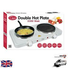 ELECTRIC TWIN DUAL PORTABLE DOUBLE HOT PLATE TABLE TOP HOTPLATE 2500W