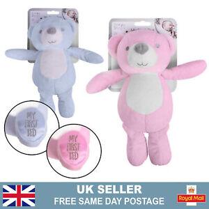 Baby's First Teddy Bear | Newborn Boy Girl Plush Rattle Toys | Baby Shower Gift