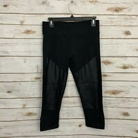 Fabletics Black Cropped Active Athletic Leggings Size Medium
