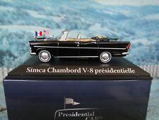 1/43 ATLAS  1961 Simca Chambord  V8 Charles de Gaulle  Presidential cars