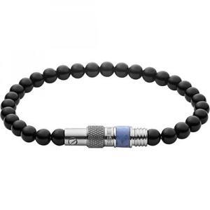 Diesel Mens Bracelet DX1219040 Stainless Steel Black Stones