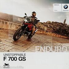 Prospekt BMW F 700 GS 8 12 Motorradprospekt 2012 brochure Enduro Motorrad moto