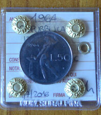 REPUBBLICA ITALIANA 50 LIRE 1964 SIGILLATA SPL/FDC numismatica SUBALPINA