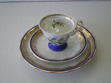 VINTAGE POLISH FLORAL GILDED PORCELAIN TEA SET / WROCLAW POLAND