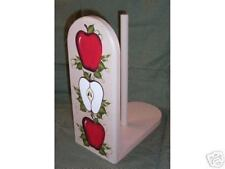 HAND PAINTED PAPER TOWEL HOLDER/APPLES/NEW/BY MB /STOP*LQQK!!