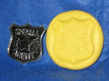 Badge Push Mold Flexible Resin Clay Candy Food Safe Silicone  #672 Chocolate