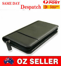 Black Faux Leather Passport Iphone Holder Zipper Quality Business Travel Wallet