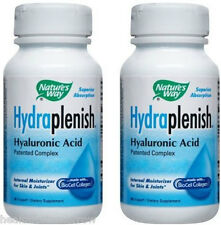 Nature's Way Hydraplenish Hyaluronic Acid 60 Capsules (Paks of 2)