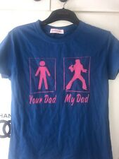 "Elvis Presley ""Your Dad Vs. My Dad"" Navy t shirt Size 8/10"