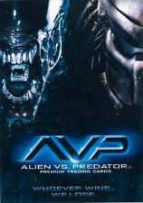 """2004 INKWORKS """"ALIEN vs PREDATOR"""" PROMO TRADING CARD [P1] V/GOOD COND"""