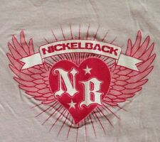 ⭐️PERRRFECT GIFT⭐️NICKLEBACK HEART & WINGS TOUR Pink T-Shirt: L