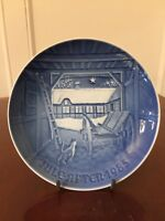 Vintage Signed 1985 BING & GRONDAHL B&G Blue/White Christmas Collectors Plate