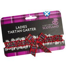 Ladies TARTAN GARTER Wedding Elasticated  Scotland Scottish Tartan Royal Stewart