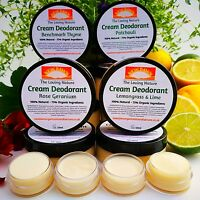 NATURAL ORGANIC EFFECTIVE DEODORANT - Cruelty Free - Vegan - Under Arm Feet Hand