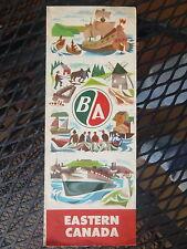 1957  Eastern Canada  road  map B/A oil gas