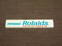 "VINTAGE MEDICINE 4 3/4"" LONG PEPPERMINT ROLAIDS ANTACID TABLETS TIN *EMPTY*"