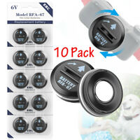 10pack Compatible RFA-67 6V Pet Dog Collar Replacement Battery For PetSafe