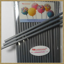 """50pcs 6"""" x 5/32"""" Plastic lollipop sticks for cake pops lollipop candy - Silver"""