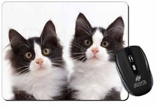 Black and White Kittens Computer Mouse Mat Christmas Gift Idea, AC-199M