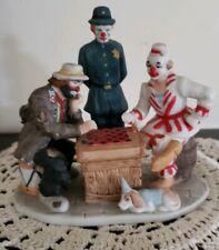 "Vintage Emmett Kelly Jr. Porcelain Clown Figurines ""Fair-Game"" ~ Handcrafted"