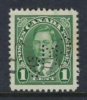 Perfin C21-CMS (Trail BC): 1c King George VI Mufti Issue Scott 231-5, RF: G