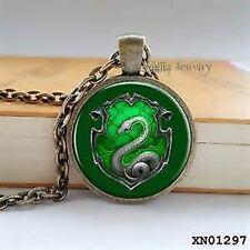 Amazing Harry Potter Hogwarts School Slytherin Pendant with Luxury Velvet Bag