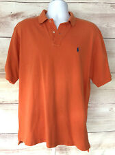 Polo Ralph Lauren Men's Polo Shirt 2 Button Collar Classic Fit Orange Large