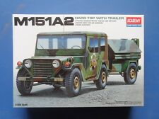 Academy - 1/35 Scale - M151A2 Hard Top Jeep with Trailer AY13012