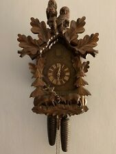 Black Forest 8 Day Owls & Stags Cuckoo Clock