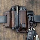 Men Multitool Leather Sheath EDC Pocket Organizer Storage Belt Waist Bag Gift TD