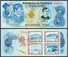 2 Pesos JOSE RIZAL DEATH ANNIVERSARY w/ ASEANPEX Stamp Commemorative Banknote D