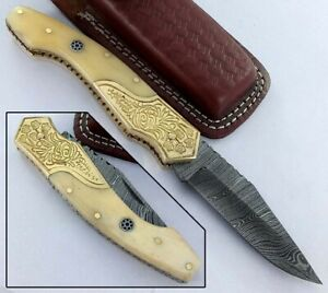 Couteau de Chasse Lame Damas Hunting knife