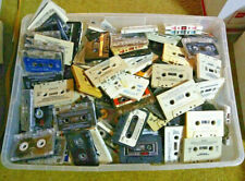 VINTAGE LOT OF 30 AUDIO CASSETTE TAPES for CRAFTS and/or DECORATION