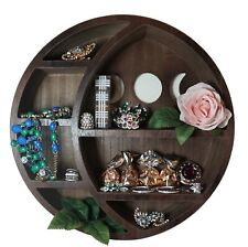 Moon Shelf for Crystals - Crystal Shelf Moon Decor Wall Shelves for Bedroom