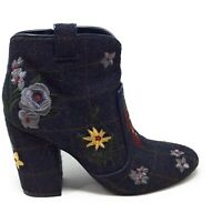Indigo Rd Womens Juke Fashion Ankle Boots Black Embroidered Size 8 M US