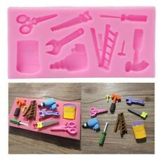 3D Silicone Tray Chocolate Mold Hammer Spanner Home Tools Fondant Cake Mould