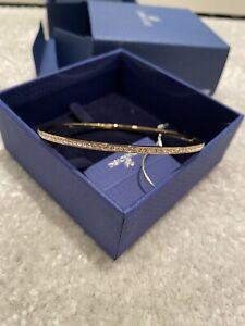 Swarovski Crystal Gold Bangle (6cm)