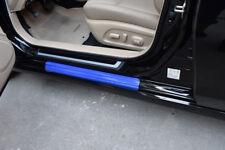 4×5D Blue Carbon Fiber Look Car Door Plate Sill Scuff Cover Anti Scratch Sticker