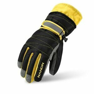 Unisex Kid's Warmer Gloves Cotton Leather Waterproof Motorcycle Cycling Mitten