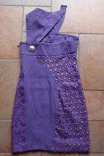 lila Kleid von Versace for H&M *  Gr. 34 ** Seidenkleid _ Cocktailkleid