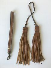 New ListingPatricia Nash Genuine Leather Tassel Fob Charm Cognac Brown & Wristlet Handle