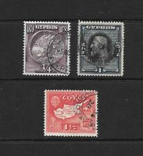 1928 King George V SG123 to SG125  short set of 3 stamps Used  CYPRUS