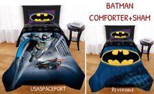 BATMAN Bat Signal Twin/Full COMFORTER + Pillow SHAM Single/Double Bed Decor Set