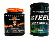 Steel CHARGED AF Candy Bliss + Performix ION Watermelon PRE-WORKOUT COMBO