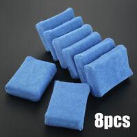 8x Car Waxing Polish Microfiber Foam Sponge Applicator Cleaning Detailing Pads