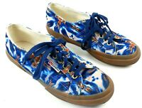 Superga Velvet Sneakers Womens 9 1/2 Batik Inspired Vibrant Color Rubber Sole