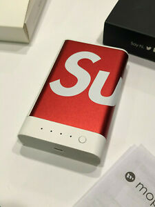 SUPREME x MOPHIE ENCORE PLUS 10K - LIGHTNING CHARGER RED WHITE BOX LOGO IPHONE