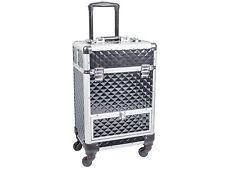Beauty Trolley DIAMOND Aluminium schwarz Kosmetik Koffer Case Schmink Visagisten